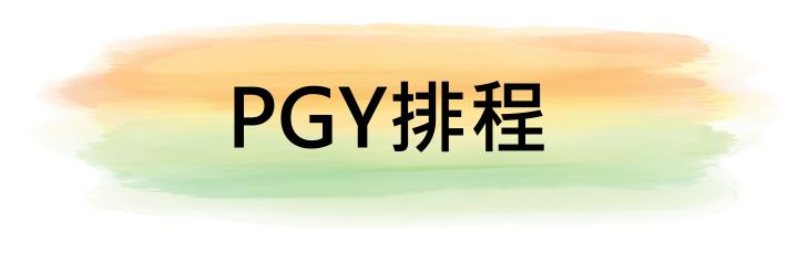 PGY 排程(限院內)