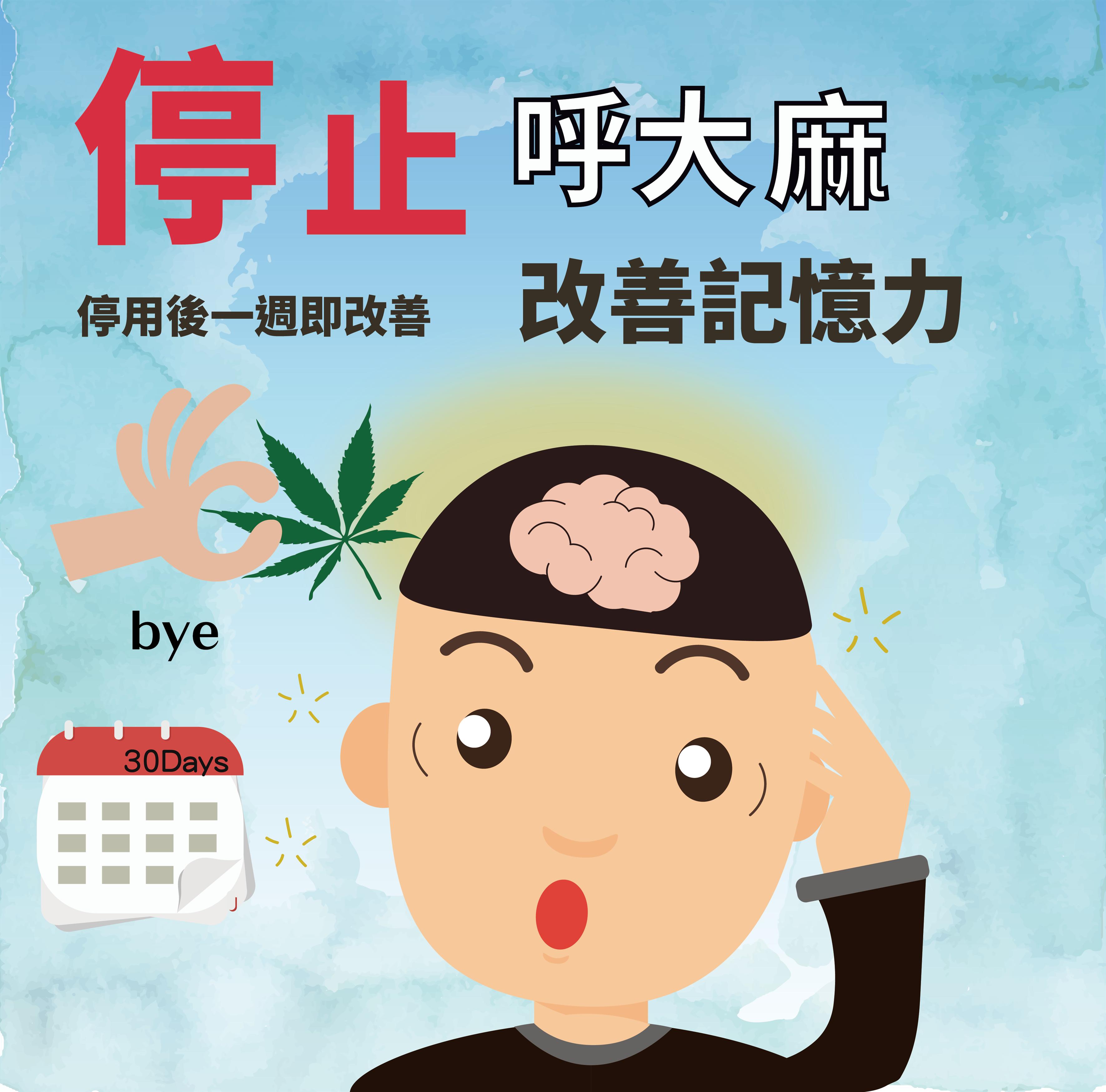 停止吸食大麻,救救你的記憶力(圖片)