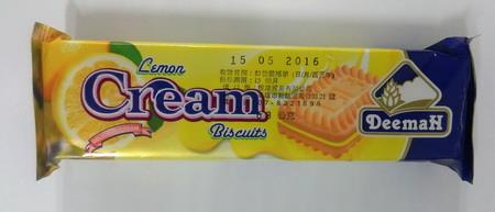 品名:利馬檸檬夾心餅乾