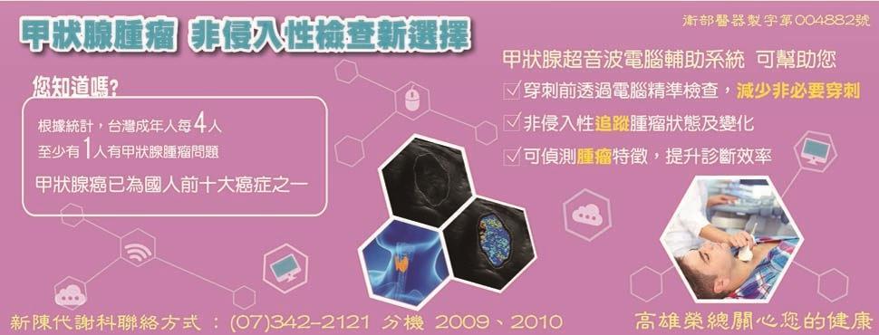 甲狀腺腫瘤非侵入性檢查新選擇-甲狀腺超音波電腦輔助系統